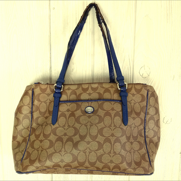 Coach Handbags - Coach Peyton Signature Jordan Double Zip CarryAll
